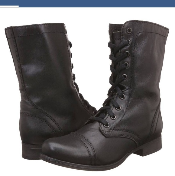 964d327460e Steve Madden Troopa black lace up combat boots 6.5